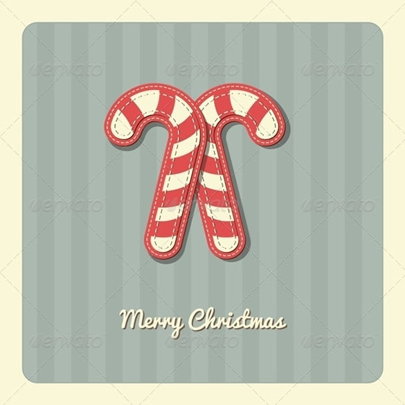 christmas card candy cane template 4