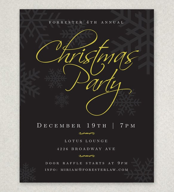 Holiday Party Flyer Templates  Psd Designs  Free  Premium