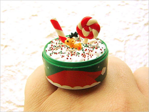 christmas ring candy cane reindeer cookie