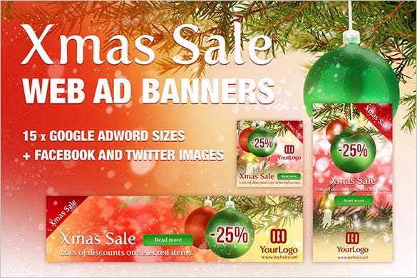 christmas sale advertise banner designs