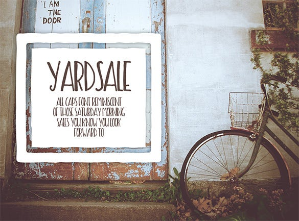 church yard sale flyer template