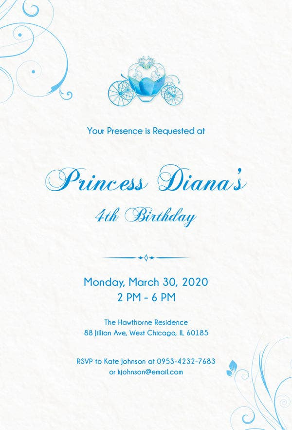 12+ Amazing Cinderella Invitation Templates & Designs ... - photo#12