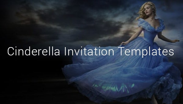 cindrella invitation template