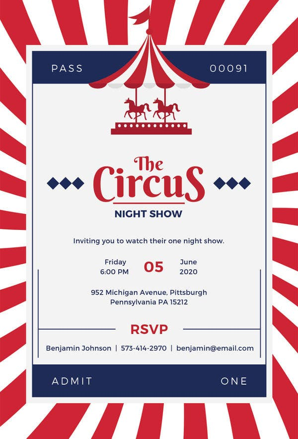 Circus party invitation template 24 free jpg psd format download circus invitation template stopboris Images