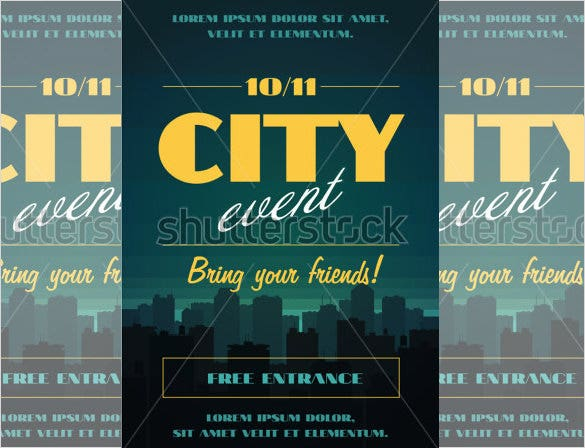 City Event Invitation Template  Free Event Invitation Templates