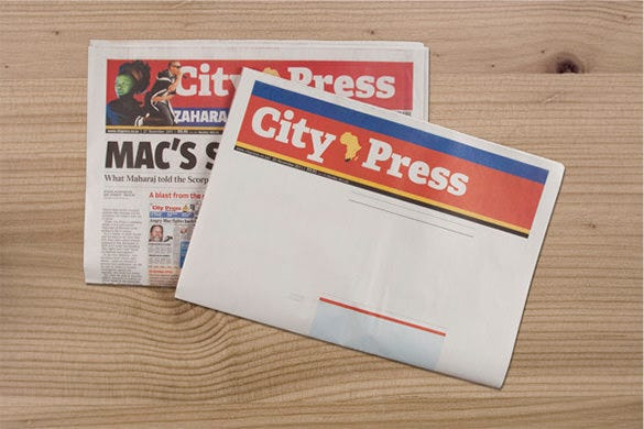 city press blank newspaper template free download