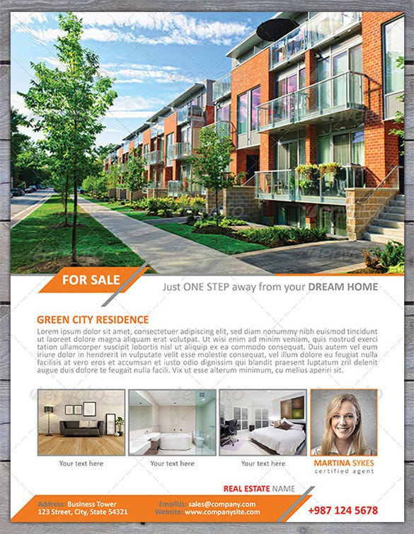 City Residence House For Sale Flyer  Home Sale Flyer Template