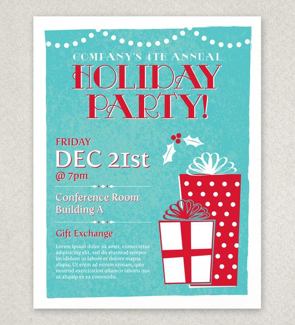 27  holiday party flyer templates