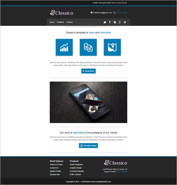 classico responsive email template