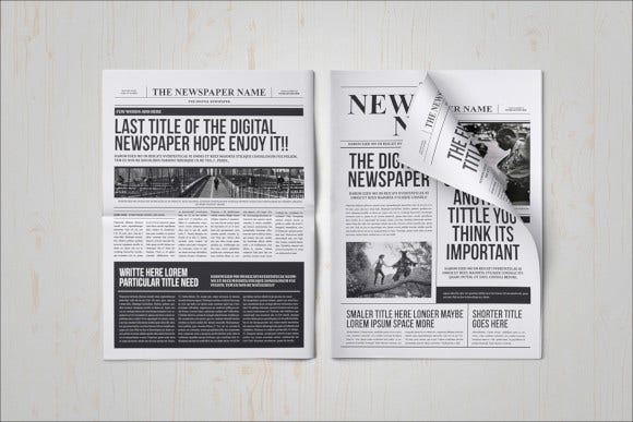 23  free newspaper templates