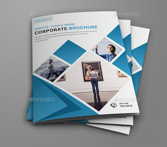 clean corporate bi fold brochure
