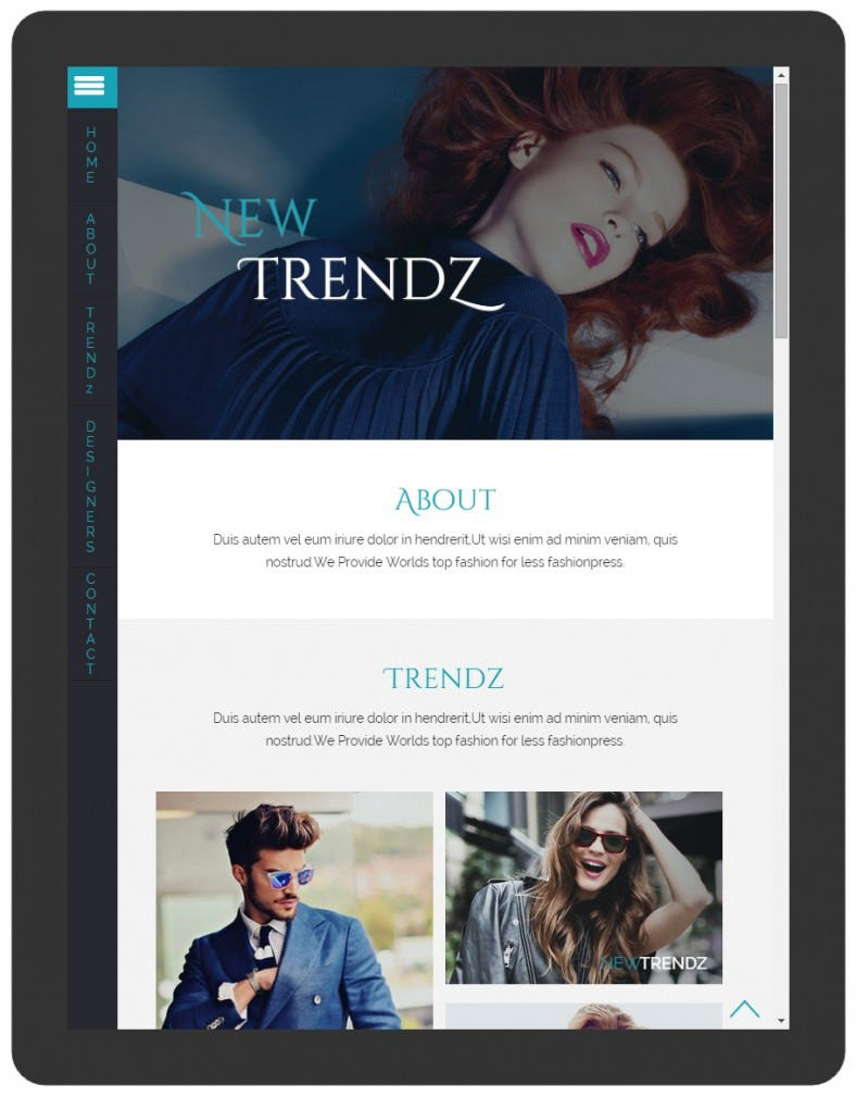 Clean & Flat Fashion Bootstrap TemplateS