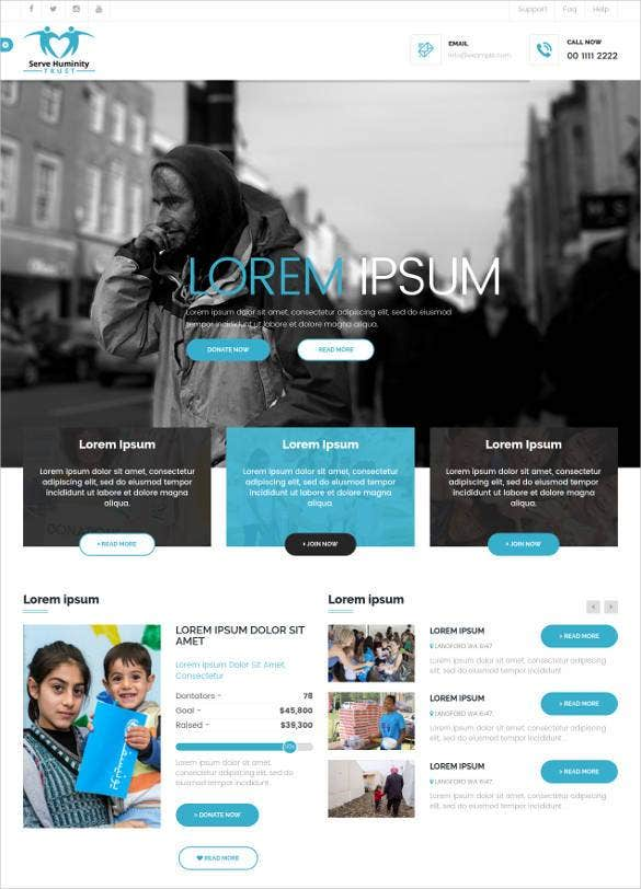 clean-professional-charity-foundation-template