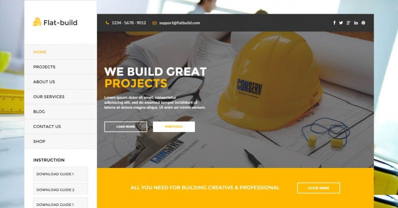Clean & Retina Ready Construction Business Wp Theme