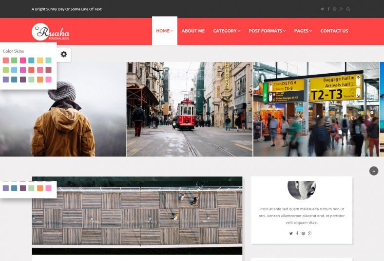 clean and elegant personal blog bootstrap template 788x535