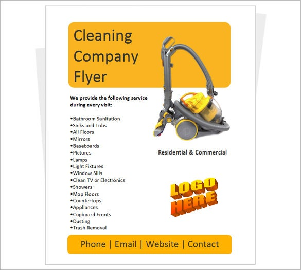 cleaning company flyer template free download