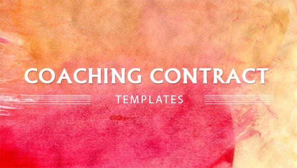 coaching contract template 4 free word pdf documents download. Black Bedroom Furniture Sets. Home Design Ideas
