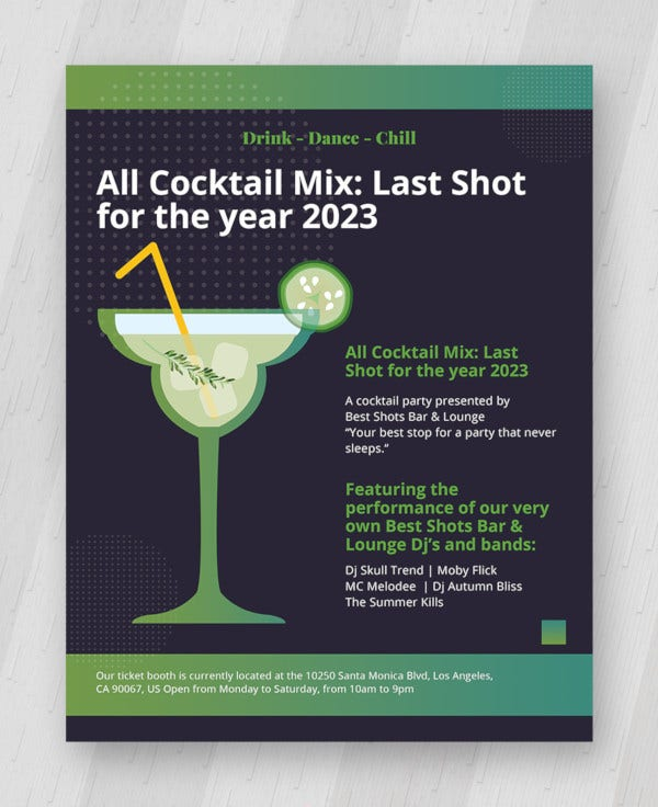19 Stunning Cocktail Party Invitation Templates Designs Free