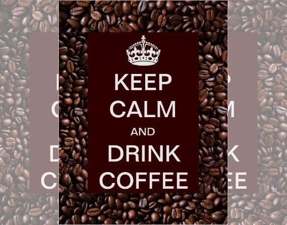 coffee bean keep calm and drink poster 16