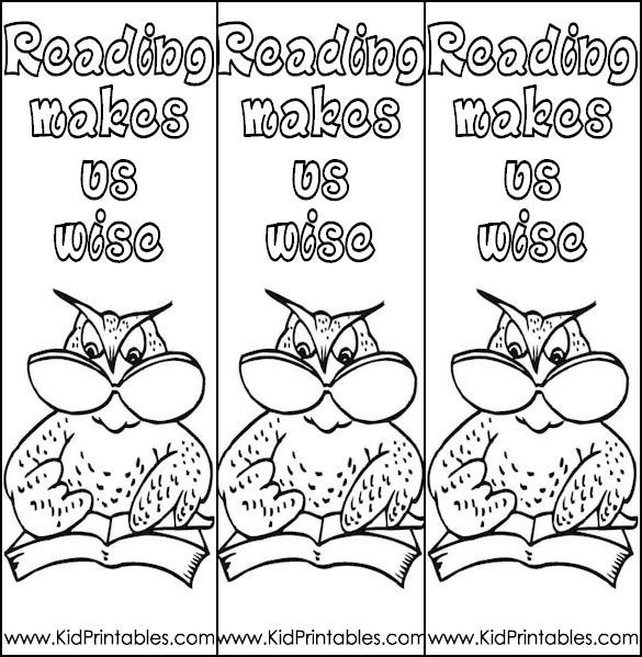 image regarding Free Printable Bookmarks to Color Pdf known as 12+ Most straightforward Coloring Bookmark Templates For Young children No cost