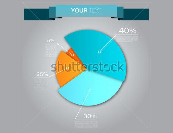 colorful business pie chart template