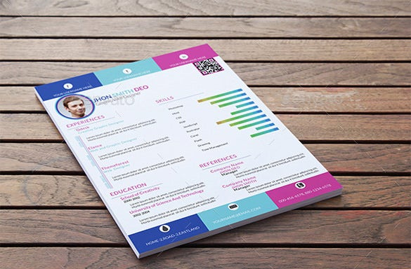 colorful onepage psd template