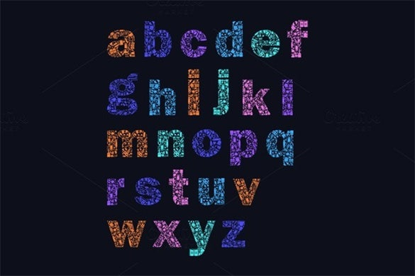 colorful printable alphabet template