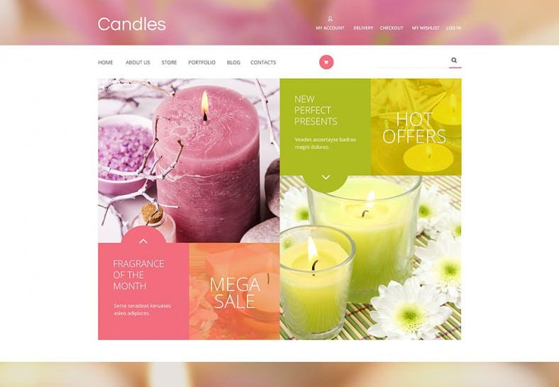 Colorful WooCommerce Theme for Candles