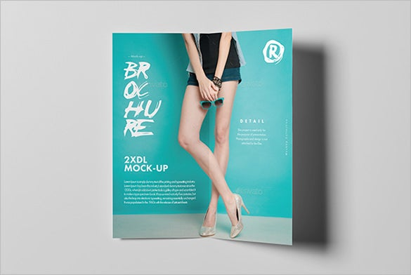 colourful bi fold brochure template