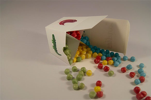 colourful candy box template