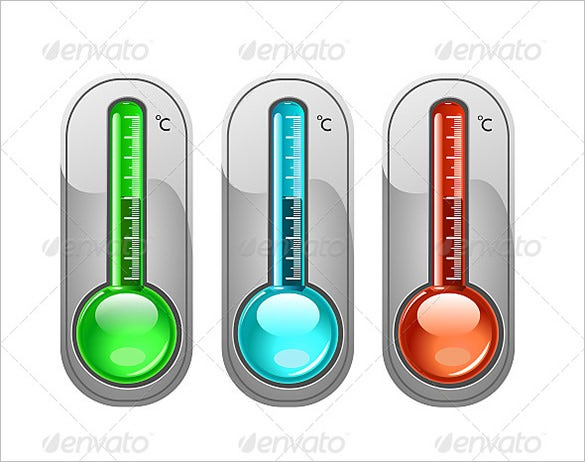 Awesome Thermometer Templates  Designs  Psd Pdf Word Excel
