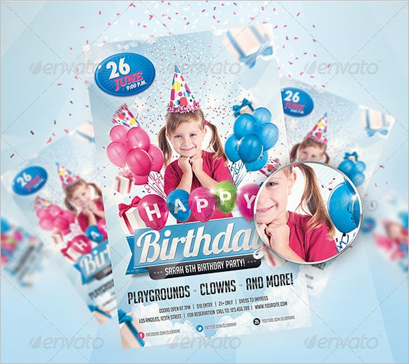 Fantastic Invitation Flyer Templates Free Premium Templates - Birthday party invitation flyer template