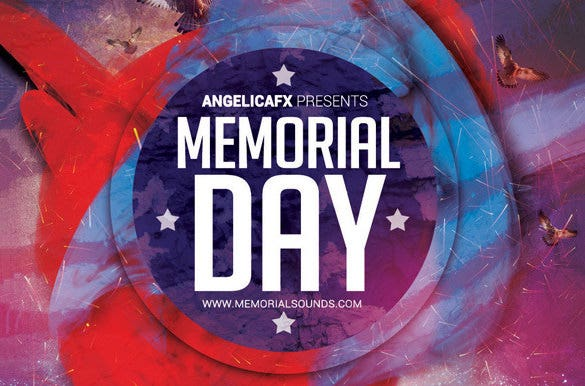 Memorial Day Psd Flyer Templates  Designs  Free  Premium
