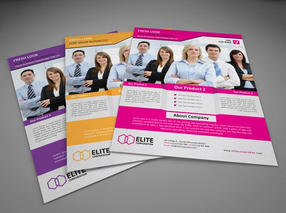 company flyer eps template 6