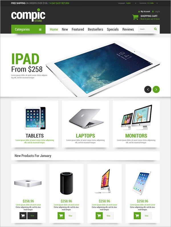 computer hardware oscommerce template