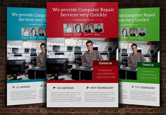 Computer Repair Flyer Template Download 7