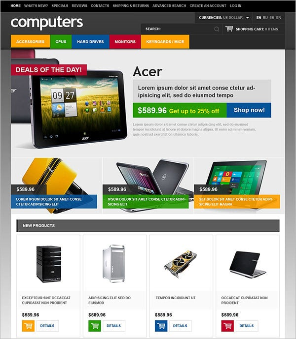computer store oscommerce template 3