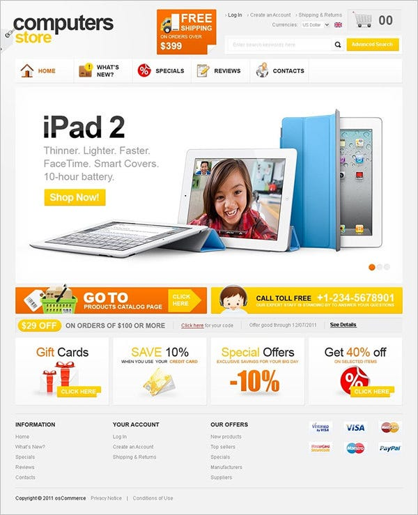 computer store oscommerce templates themes free premium free rh template net osCommerce Web Hosting osCommerce Themes Food
