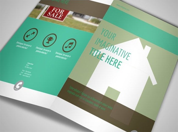 conference on real estate bi fold brochure template