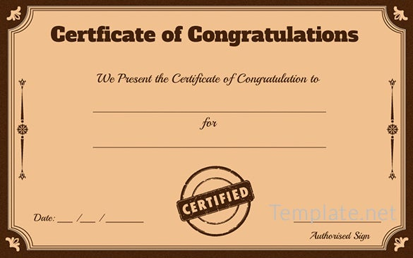 free certificate template  u2013 65  adobe illustrator