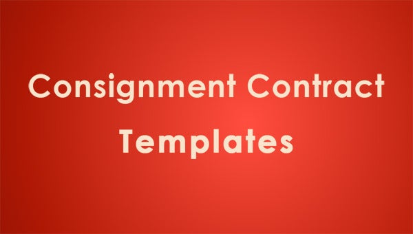 Consignment contract template 5 free word pdf documents for Consignment shop contract template