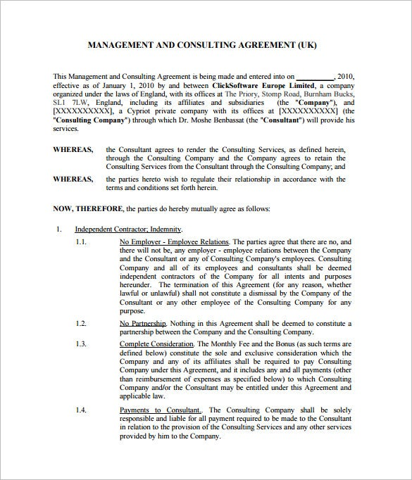 12 consultant contract templates free word pdf for Consulting contracts templates