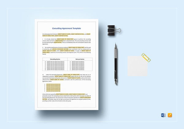consulting agreement template in ipages