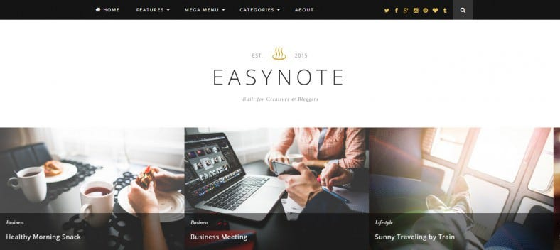 Content Focused WordPress Blogging Theme
