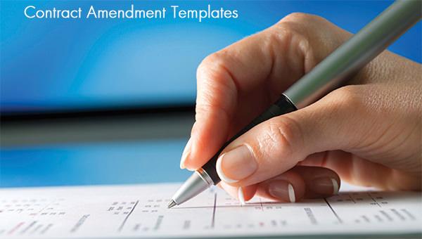 contract amendment templates