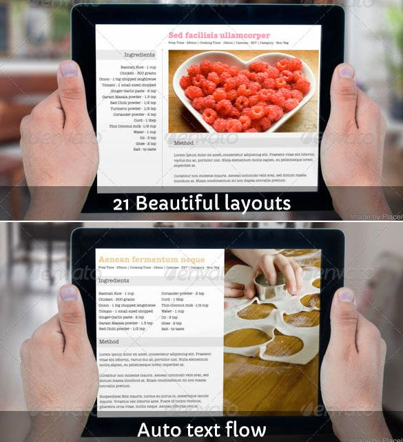cookbook template for ibooks