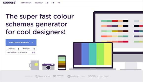 coolors colour scheme generator for designers