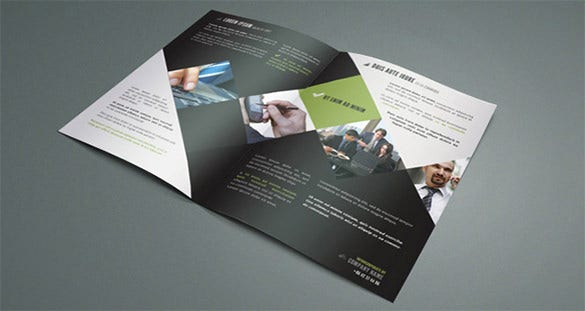 corporate bi fold brochure template with contemporary design