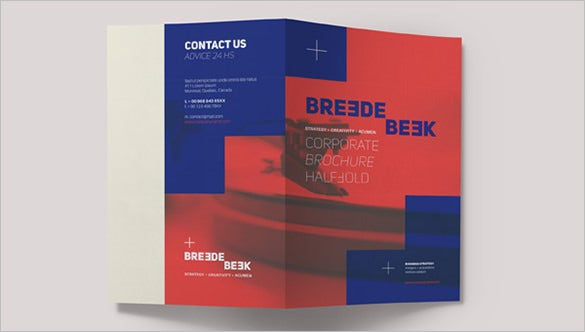 corporate breede bi fold brochure template