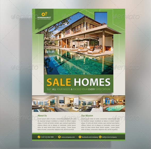 corporate house for sale flyer